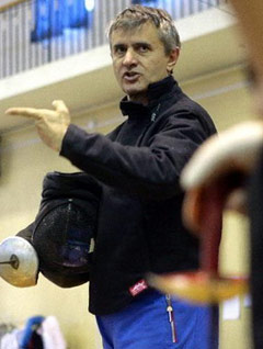 中国击剑队法籍教练鲍埃尔