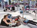 乘客滞留曼谷机场