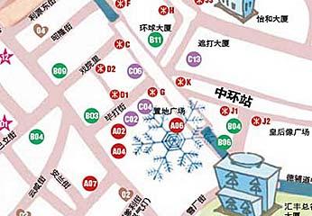 香港中环名店地图