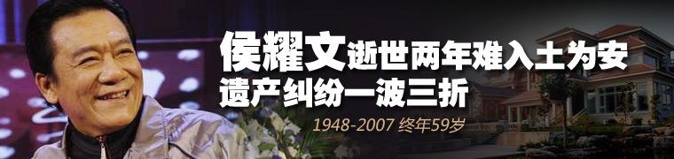 著名相声表演艺术家侯耀文去世