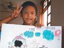 台湾灾区儿童画画纾压